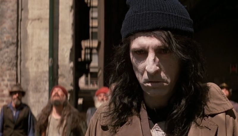Yes that's Alice Cooper as a homeless guy.   A sinister homeless guy but like everything else about this movie it's not fleshed out, explored or even interesting.