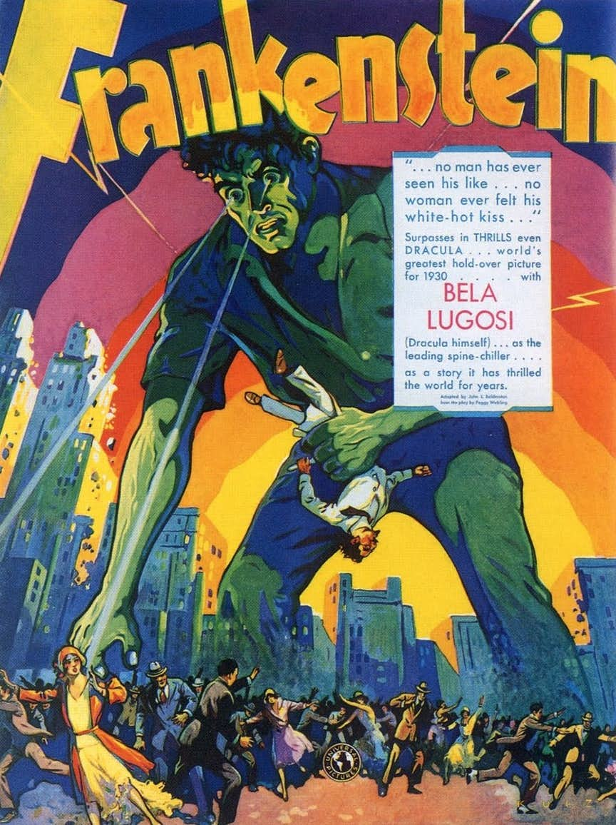 Early pre production poster for the original movie with Lugosi listed as the star.