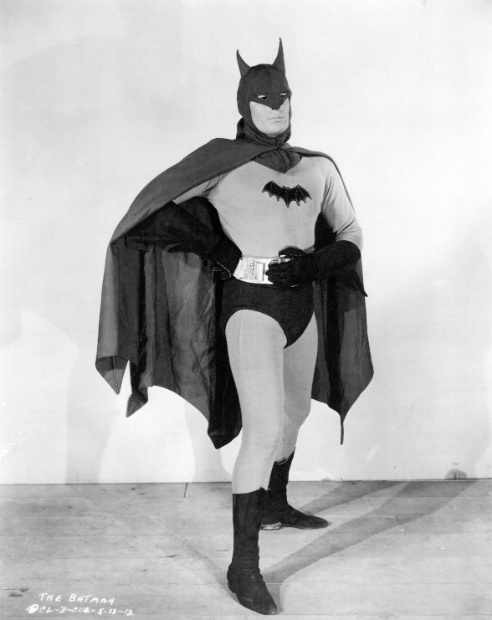Wilson in his Batman suit