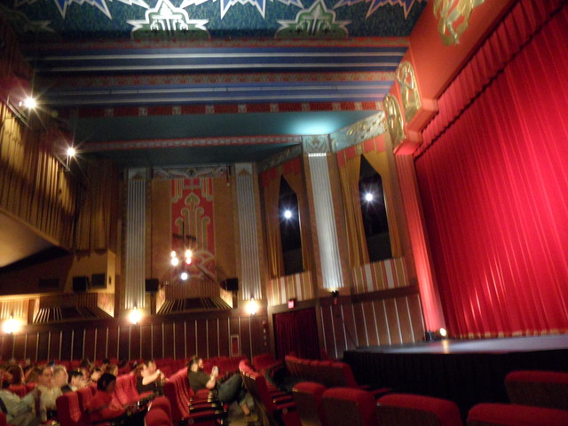 The Inside of the Coolidge Corner Big theater where the movie was going to be shown.
