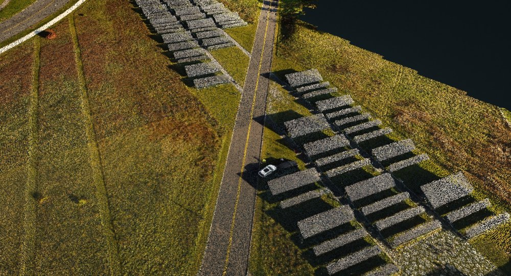 3D Point Cloud from EagleHawk drone operation, Solar Farm, State University of New York