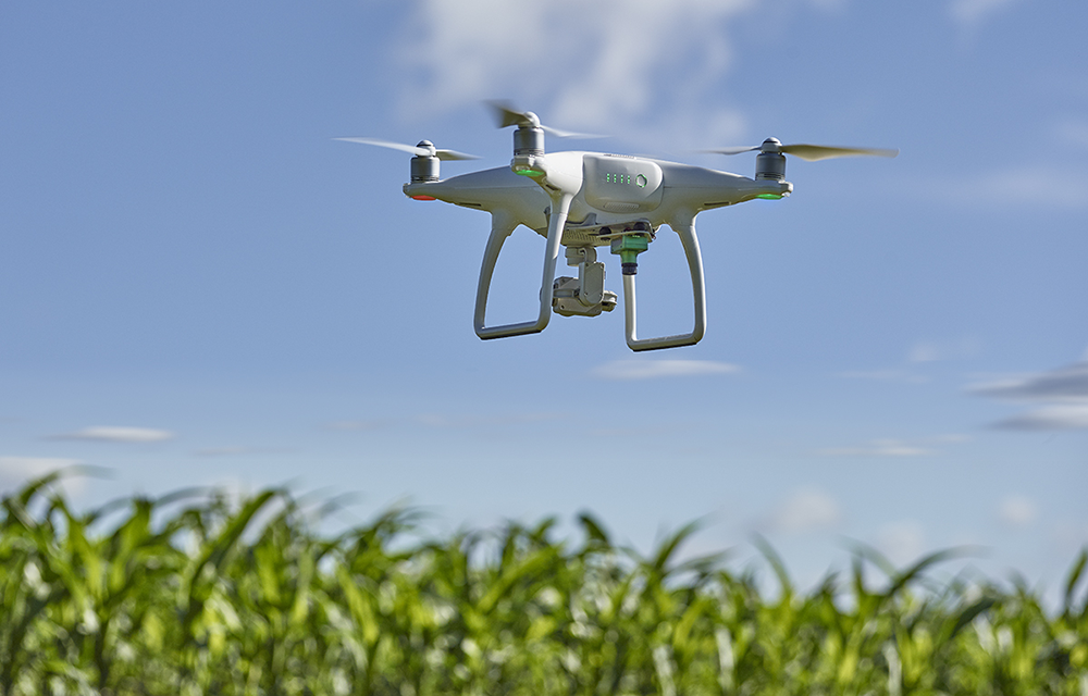 UAV equipped with precision Ag sensor