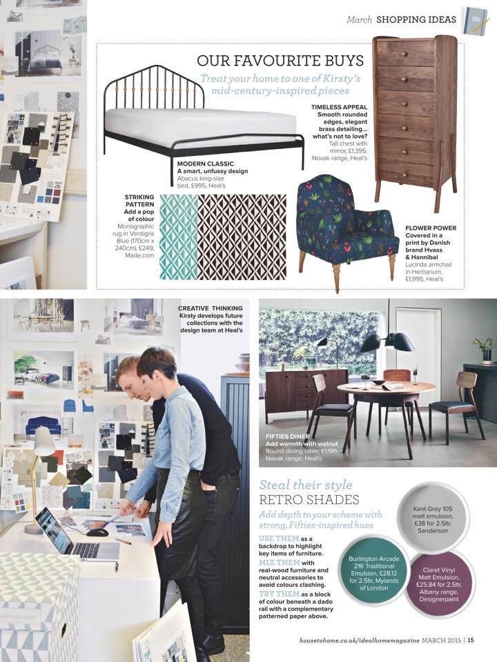 The Abacus Low bed for Heal's | The Novak Tallboy for Heal's | Lucinda Armchair in Herbarium fabric for Heal's | Mini studio team discussion