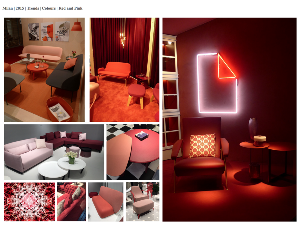 Pink and red, this trend was beginning to emerge at Maison et Objet; with classically non-complimentary colours being paired together. Using tonally within the same colour pallet.
