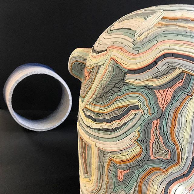 @alicewaltonceramics in the @holeandcorner section of @ldndesignfair #Lfd18 #ceramics #colourinspo