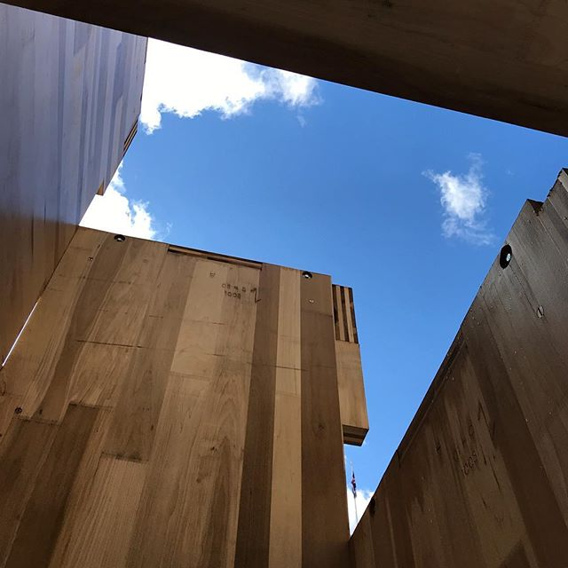 Exploring Multiply @vamuseum - Cross laminated timber #WaughThistletonArchitects #Multiply #sacklerCourtyard @l_d_f_official #ldf18