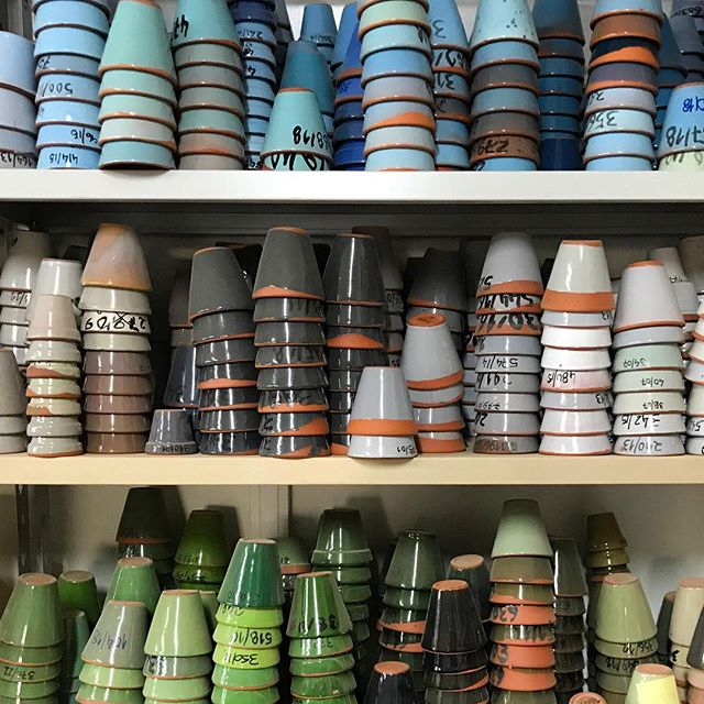 I may be some time....glaze selection! #factoryvisit #sohohome #glazeheaven