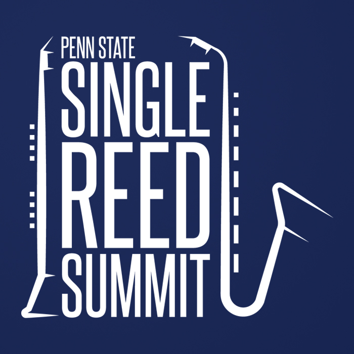 Logo design for Penn State music program, Single Reed Summit.