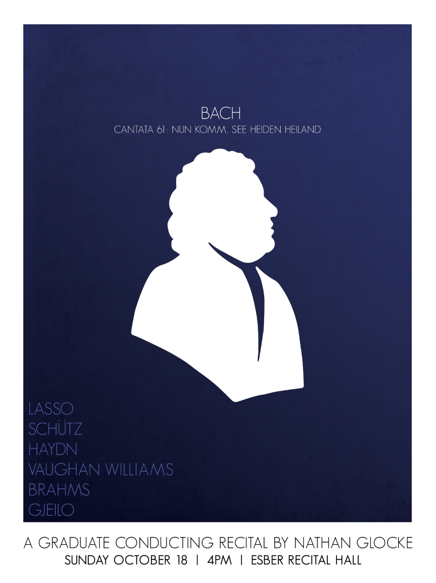 Poster design for a senior recital.