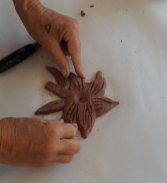 Then comes forming the figure with self hardening clay.