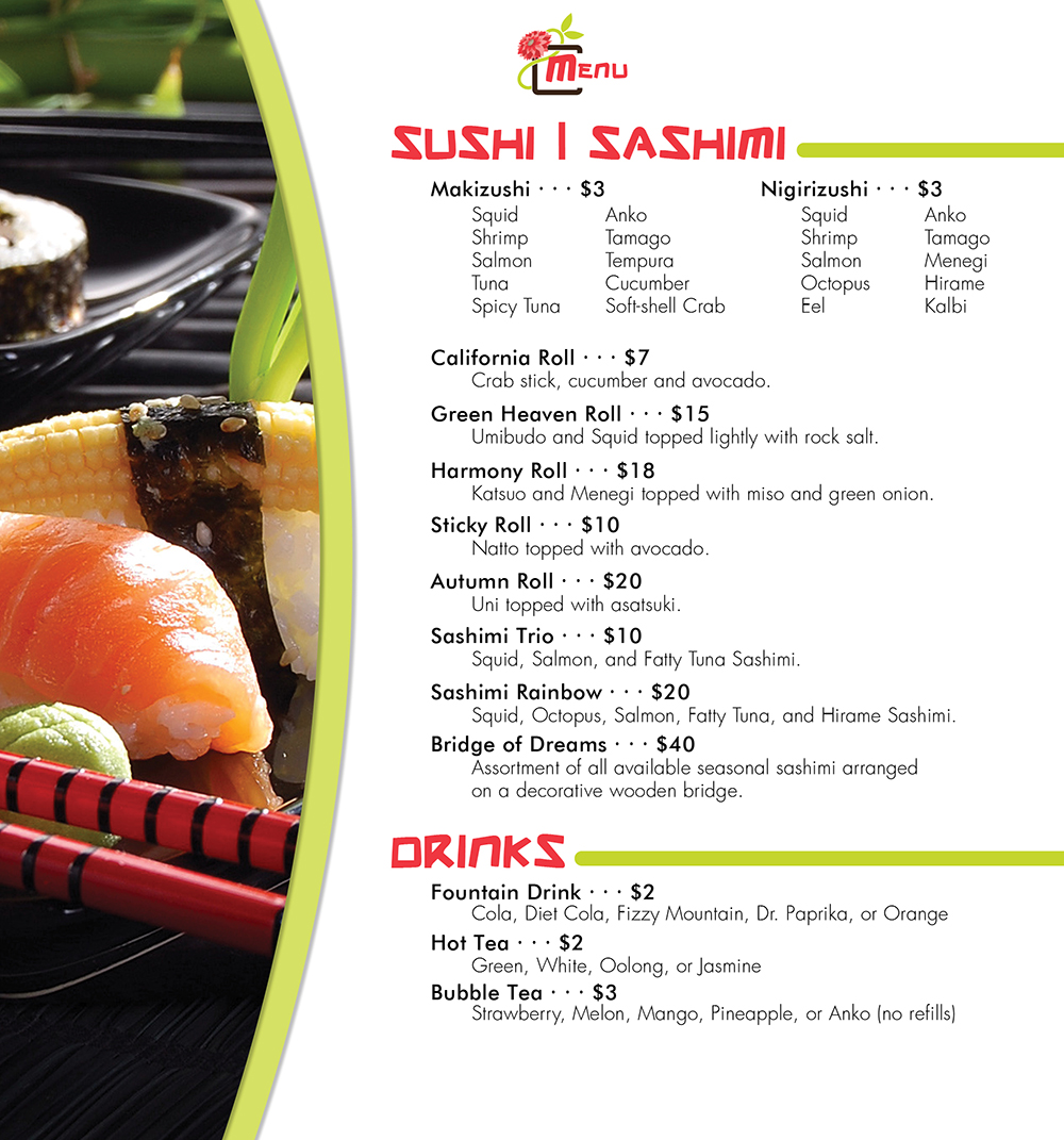Menu: Inside, Pg 2
