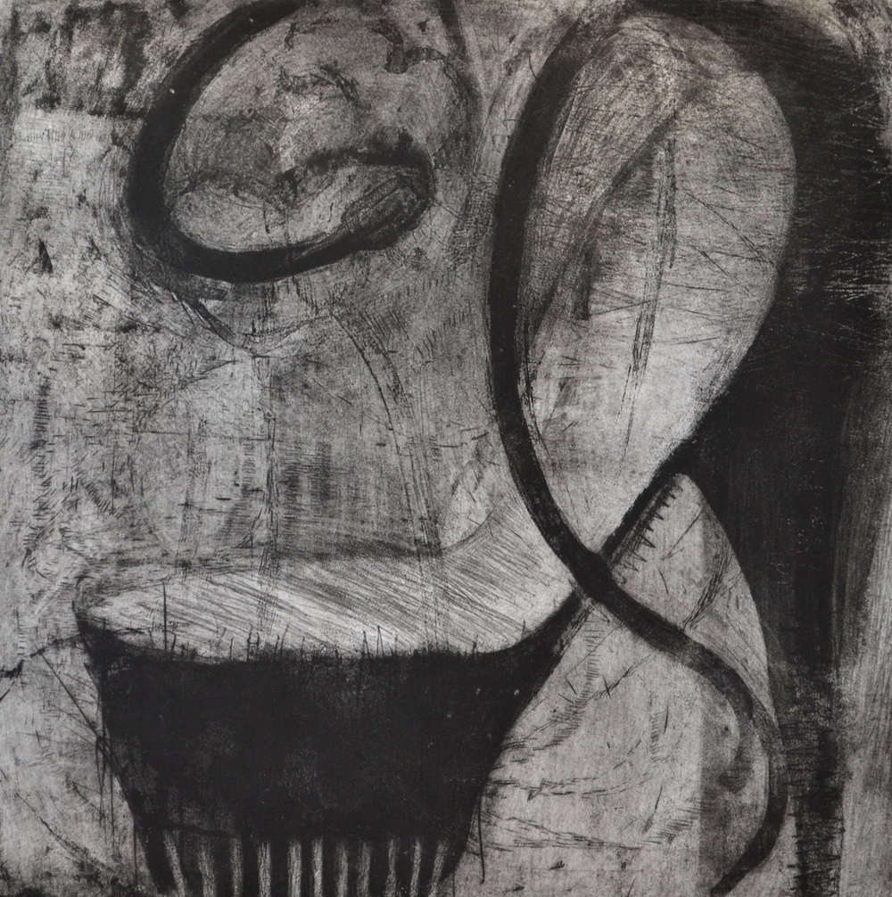 "Angie's Folly, 31 x 31"", Intaglio, 2012"