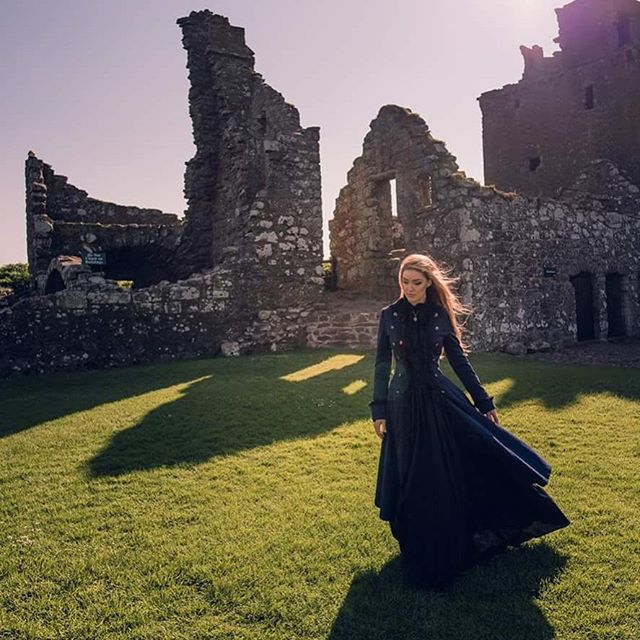 The ruins of Dunnottar Castle  #castle #dunnottar #dunnottarcastle #scotland #scotlandcastle #travel  Dress by @victorianchoice
