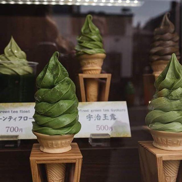 Matcha ice cream, anyone? #matcha #icecream #matchaicecream #japan #travel #travelfood #travelfoodie