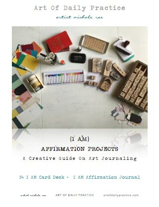 {I AM} Affirmation Projects: 54 I AM Card Deck + I AM Daily Journlaing A  Creative Guide On Art Journaling by Artist Nichole Rae