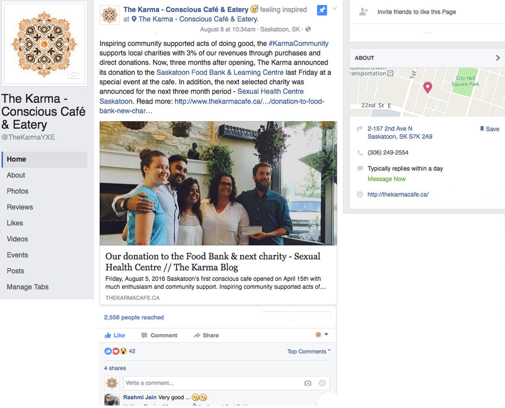 Storytelling and community building though  Facebook  adhering to brand guidelines.