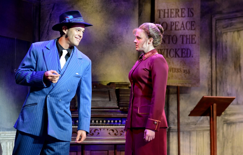 Segerstrom Center for the Arts - Matthew J. Taylor as Sky Masterson and Kayleen Seidl as Sarah Brown in the national tour of GUYS AND DOLLS - Photo by Gary Emord-Netzley