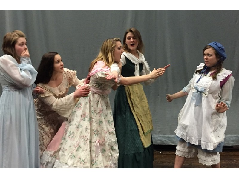 Members of the cast of 'Little Women' Photo courtesy of Pomeraug High School Theatre Company