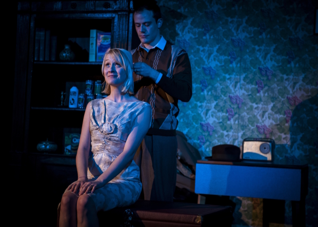"Eve Burley and Oliver Devoti in ""Anthony Burgess' One Hand Clapping"" - Photo by Emma Phillipson"