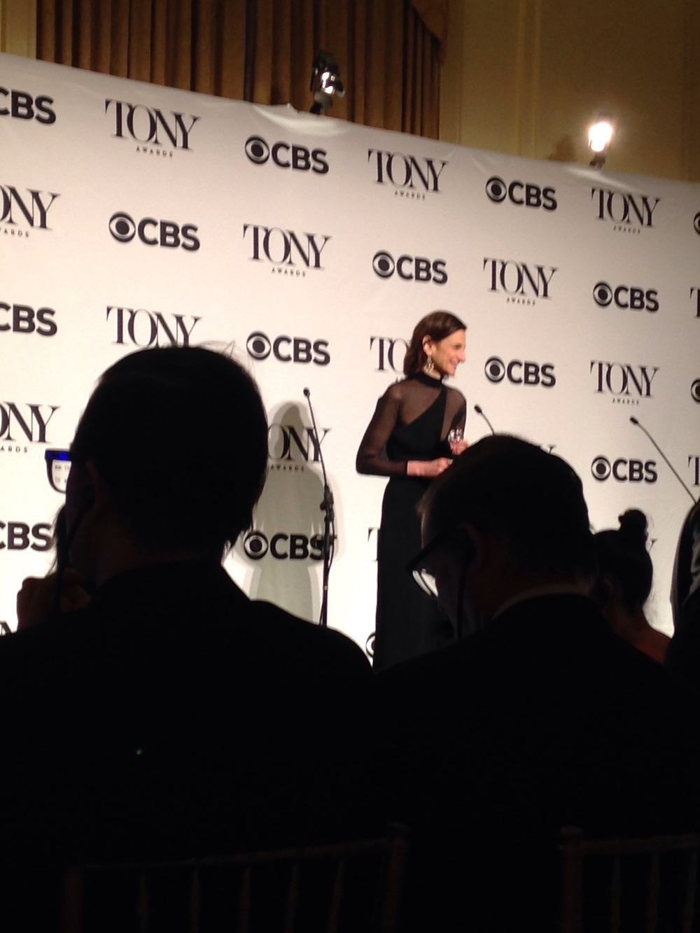 Natasha Katz in the room after her Tony win