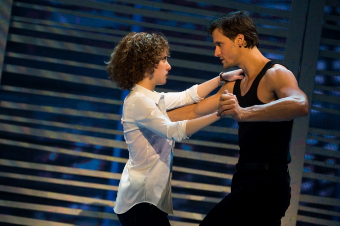"Jillian Mueller as Baby and Samuel Pergande as Johnny in ""Dirty Dancing - The Classic Story On Stage"" at National Theatre. (Matthew Murphy)"