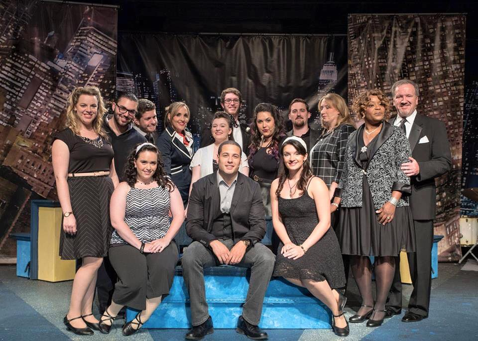 Photo of the cast of 'Company' at TBTA by Stephen Cihanek