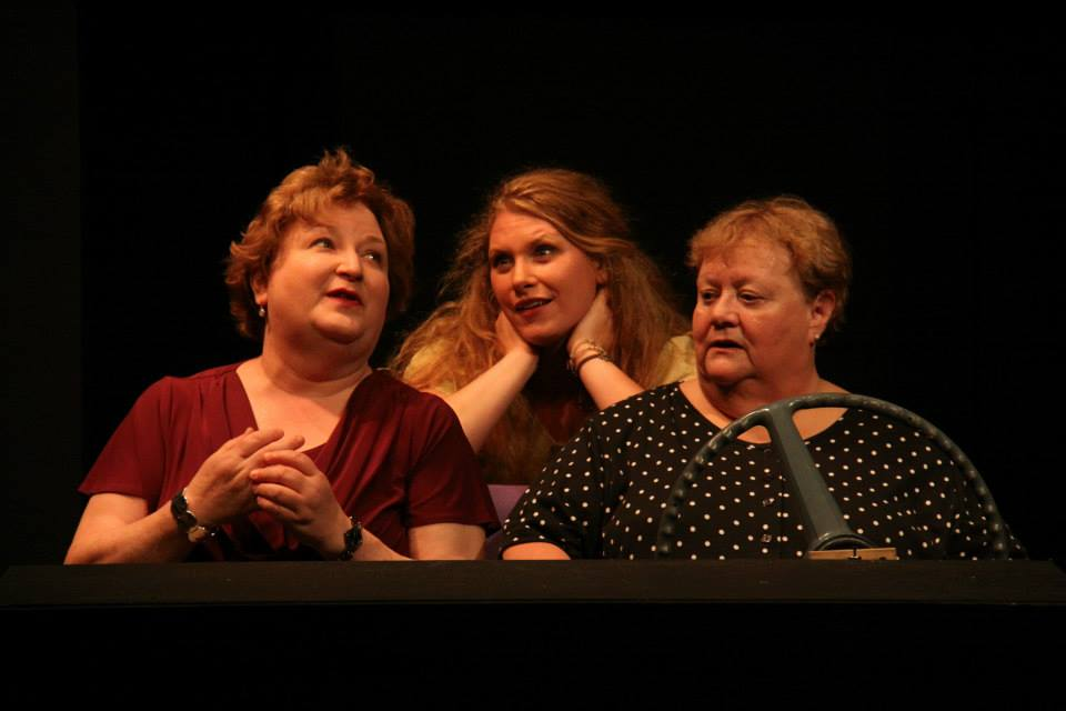 Pictured: (from left) Kathy Cook as Savannah, Kristen Jacobson as Haley and Donna Storms as Mama in 'Mama Won't Fly Photo by Sharon A. Wilcox