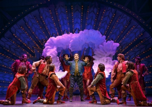 """Something Rotten!"" Brian d'Arcy James and ensemble (Joan Marcus)"