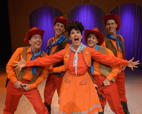 Avital Asuleen (center as Ethel Merman) and ensemblePhotos by John Vecchiolla