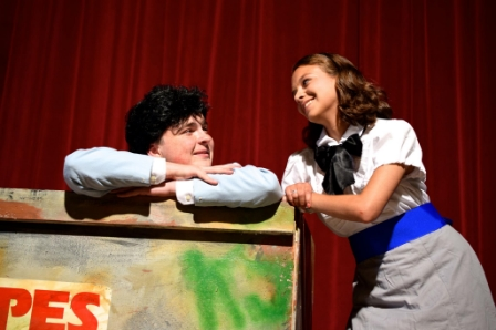 Connor Dunn as the Wedding Singer Robbie Hart and Jess Cocomazzi as Juila Photo courtesy of Landmark Community Theatre