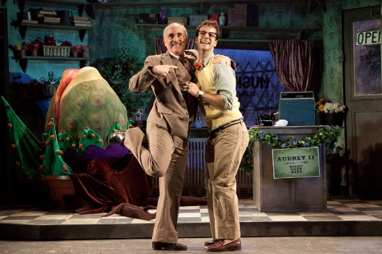 Ira Denmark as Mr. Mushnik and Ryan Vona as Seymour in 'Little Shop of Horrors' - Photo by Randy O'Rourke