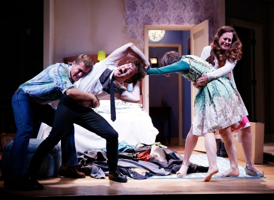 Scott Drummon (Malcolm), Carson Elrod (Trevor), Sarah Manton (Susannah) & Claire Karpen (Kate). Photo by Carol Rosegg