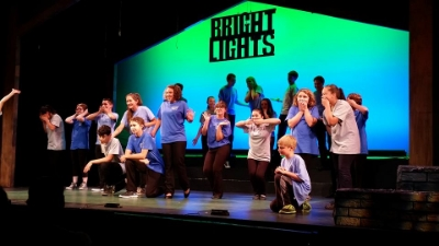 Pictured: The cast of 'Bright Lights' strike a pose Photo by Nancy Sasso Janis
