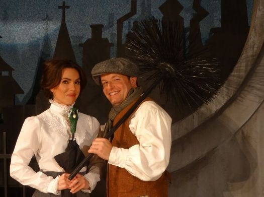 Sara Giggar and Larry Gabard as Mary Poppins and Burt, the chimney sweep. Photo: Curtain Call