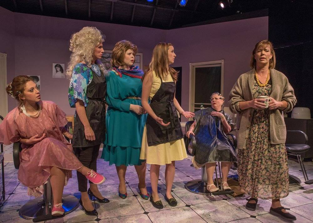 Members of the cast of 'Steel Magnolias' at TBTA Photos by Stephen Cihanek