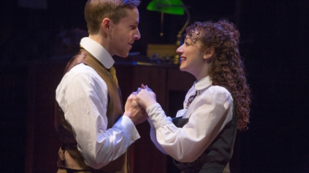 "Adam Halpin and Megan McGinnis in ""Daddy Long Legs."" IMAGE: JEREMY DANIEL"