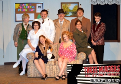 Pictured: The cast of 'Three Murders and It's Only Monday' Photo courtesy of Phoenix Stage Company