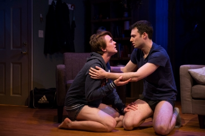 PICTURED: Thomas E. Sullivan and Jake Epstein in STRAIGHT. Photo: Matthew Murphy