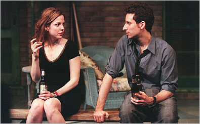 "Mary-Louise Parker and Ben Shenkman in the Manhattan Theater Club's 2000 production of ""Proof."""