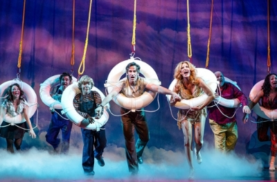 The Company of DISASTER! on Broadway, Photo by Jeremy Daniel Photography