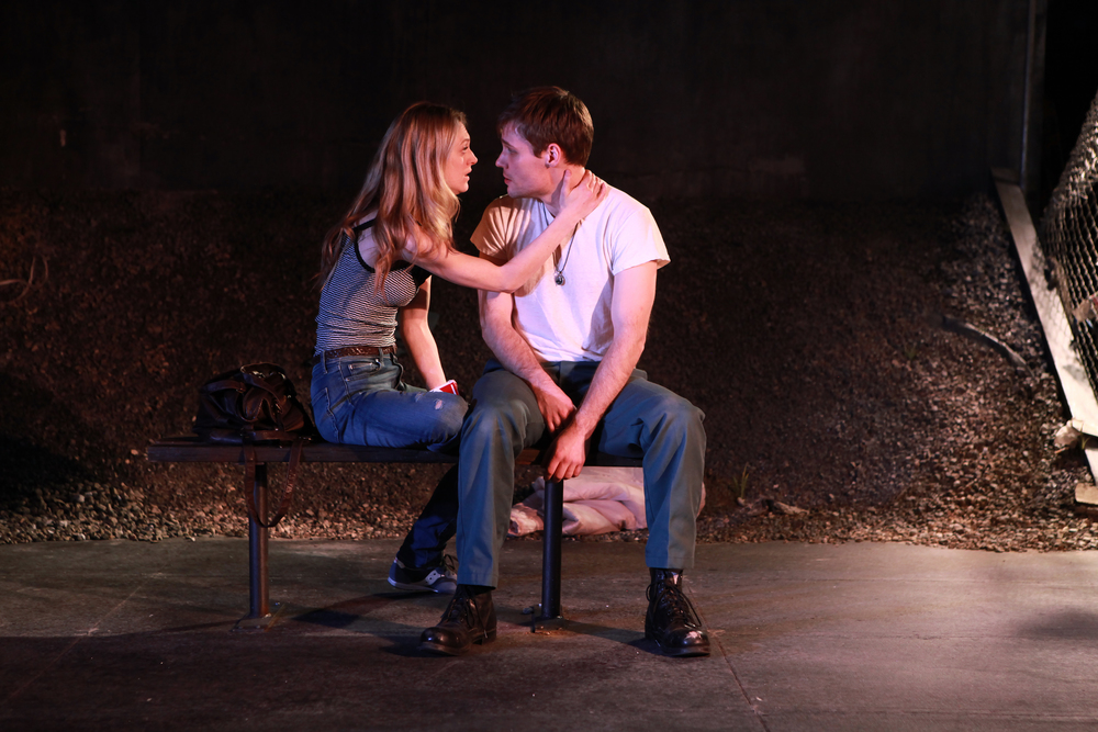 Marin Ireland and Josiah Bania in a scene from IRONBOUND Photo: Sandra Coudert