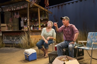Randy Danson and Martin Moran in 'Lewiston' at the Long Wharf Theatre. Photo: T.Charles Erickson
