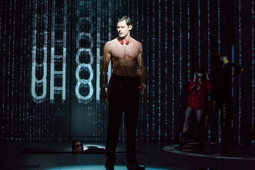 Photo: Benjamin Walker as Patrick Bateman. Credit: Jeremy Daniel