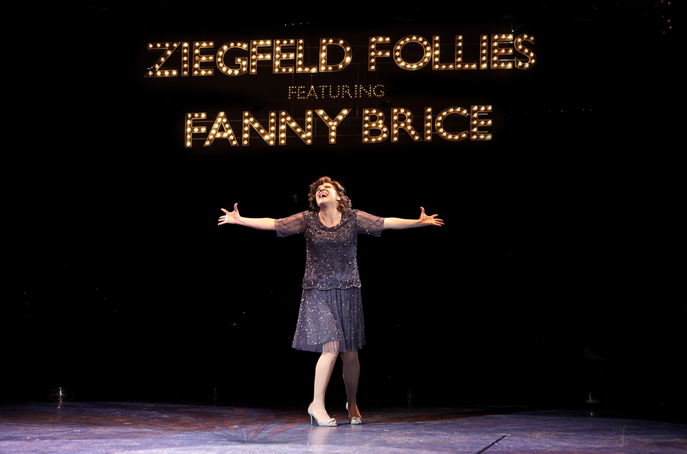Shoshana Bean is Fanny Brice in North Shore Music Theatre's production of FUNNY GIRL playing thru June 19, 2016. Photo © Paul Lyden