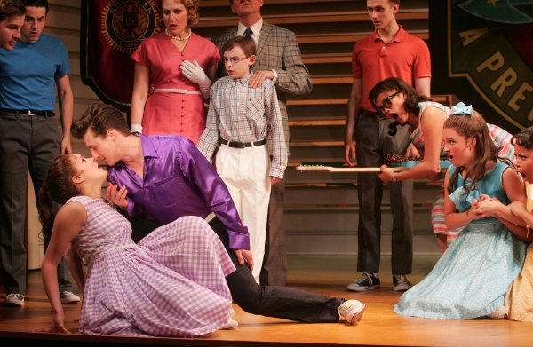 Tristan Buettel, Rhett Guter and the cast of Goodspeed's Bye Bye Birdie. (c)Diane Sobolewski