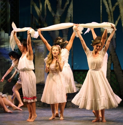 "Jillian Gottlieb, center, as Khanele in ""The Golden Bride."" Credit Ben Moody"