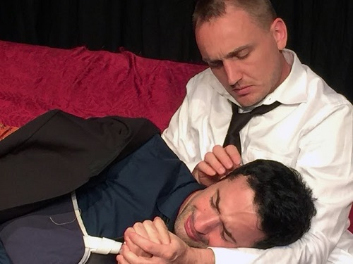 "Ben Curtis as Jim Jr. and James Padric as Kris in ""The Crusade of Connor Stephens"""