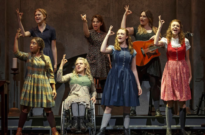 "The Deaf West Theatre production of ""Spring Awakening."" Pictured: Treshelle Edmond, Ali Stroker, Amelia Hensley, Lauren Luiz, Kathryn Gallagher, Krysta Rodriguez, and Alexandra Winter."