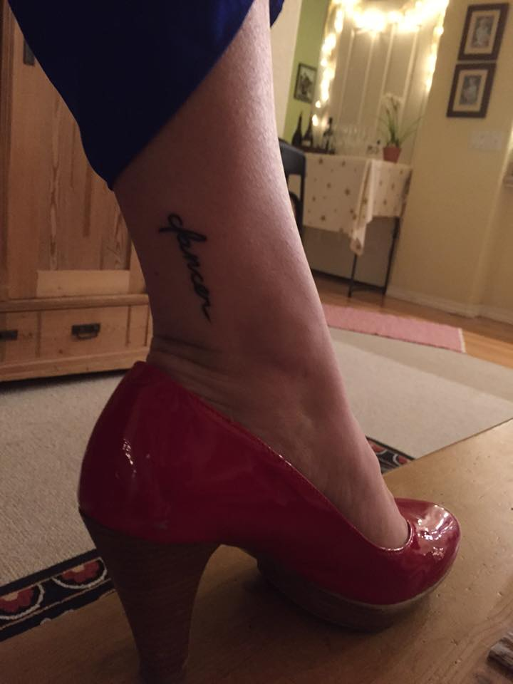 photo of my tattoo from last year: a reminder that I need to dance