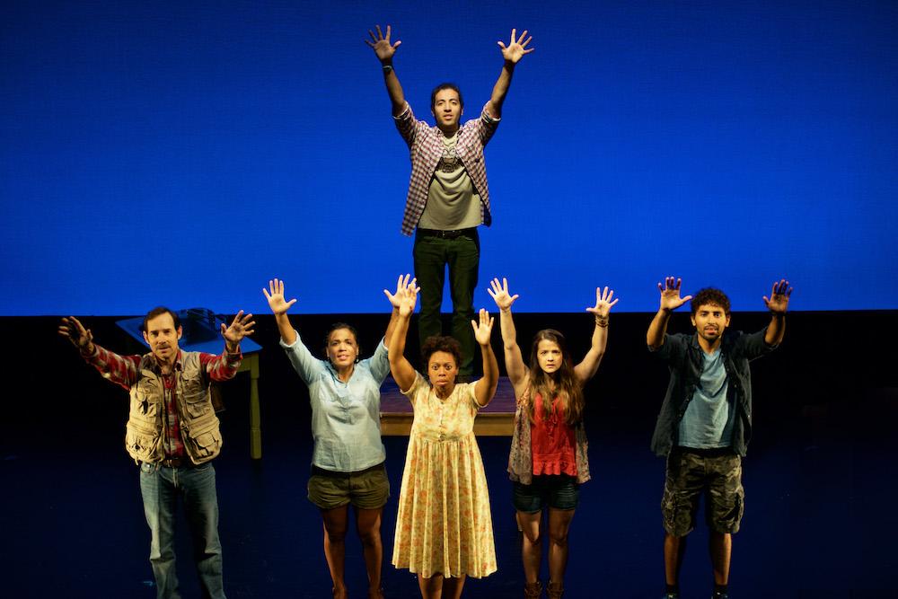"The cast of 'Newton's Cradle."" (Photo: Michael Kushner)"